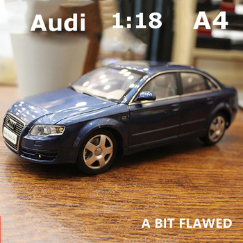 1:18 Audi A4 Scale toy Car audi Models 4 Openable Doors Metal Model for collection Toys for kids with bit flawed image