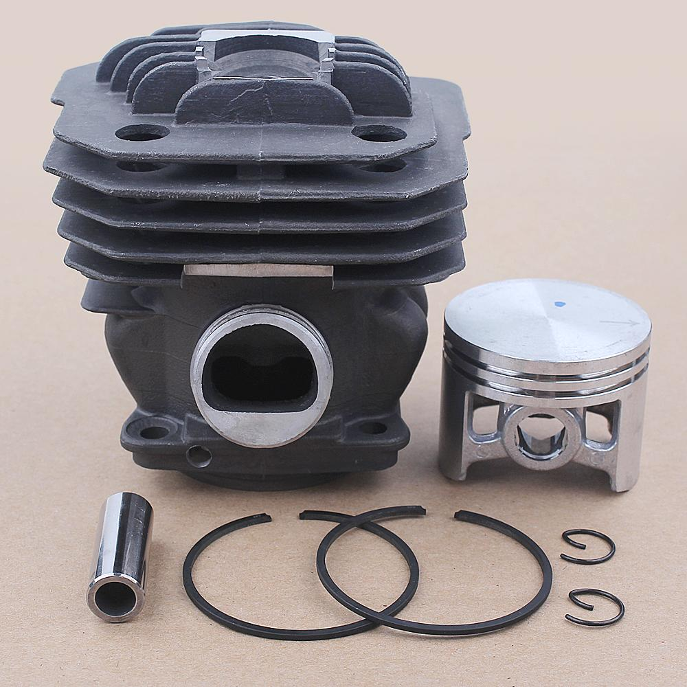 46mm Cylinder Piston Kit For Oleo-Mac 956 Efco 156 Emak 395023 Chainsaw OEM 50012095 w Ring Pin Circlips