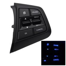 Car Steering Wheel Control Button For Hyundai creta ix25 2.0L Right Side Bluetooth Phone Audio Volume Cruise Control Switch free shipping steering wheel cruise control keys audio control switch button for geely gc7