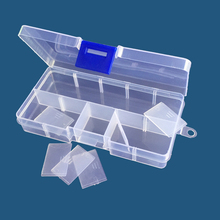 Small 10 grid transparent PP plastic box detachable classification injection parts box components packaging storage box customized medical spare parts plastic mould injection makers