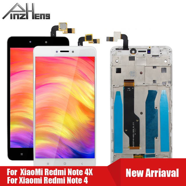 PINZHENG pantalla LCD para Xiaomi Redmi Note 4 4X, Snapdragon 625 MTK Helio X20, repuesto de pantalla LCD