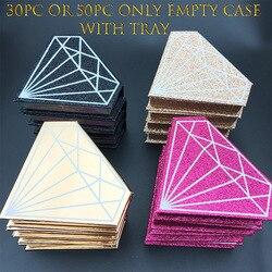 Verpakking case Mikiwi Groothandel 30/50pc Alleen Verpakking Diamant vorm holografie Case Met Lade Private Label Logo Verpakking doos