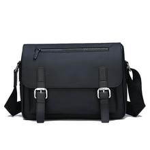 все цены на 2019 Men Bag Fashion Shoulder Bags Waterproof Oxford Cloth Men's Messenger Bag Business Male Crossbody Bags ZX-097. онлайн