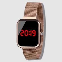 Fashion Men Digital Watches Stainless Steel Watch Rose Gold
