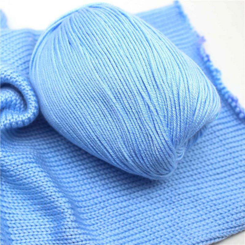 35pcsX50grams Croche Yarn Garen Cotton Yarn For Knitting 60% Silk Fiber Lamp 40% Skin Velvet Wol