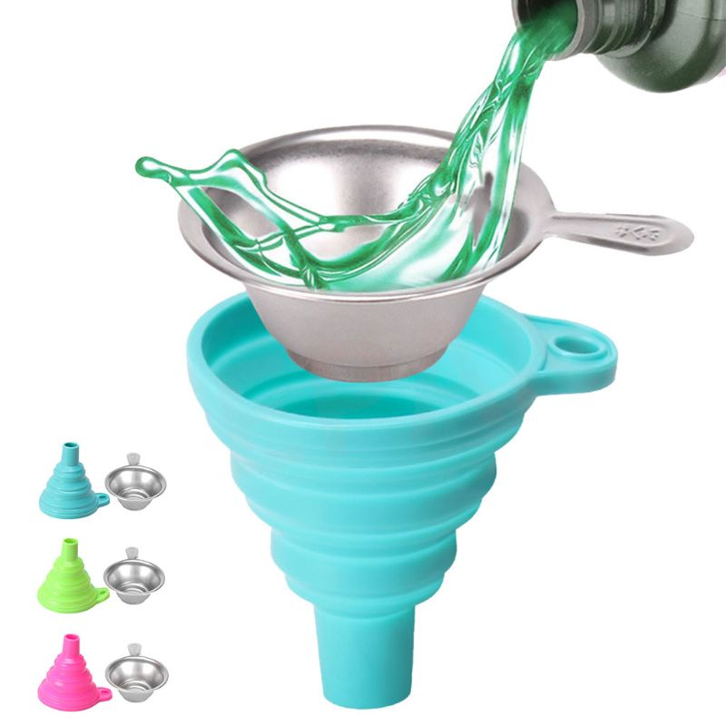 1Set Metal UV Resin Filter Cup And Silicone Funnel Disposable For 3D Printer Kit 95AF