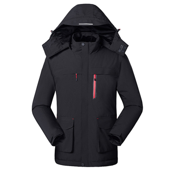 ZYNNEVA 2019 New Winter Warm Electrical Heated Jackets Men USB Heating Windbreaker Waterproof Hiking Camping Skiing Coat GK2133