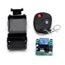 1CH Wireless Remote Control Switch DC 12V 10A 433MHz Transmitter with Receiver wireless security alarm industry long range remote control switch dc 12v 1ch 10a relay receiver transmitter learning code light lamp wireless switch 315 433 4065