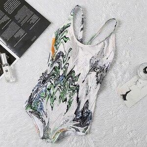 ¡Novedad de 2020! Traje de baño de una pieza de verano para mujer, traje de baño de playa, Bikini Sexy de diseñador, traje de baño 8831