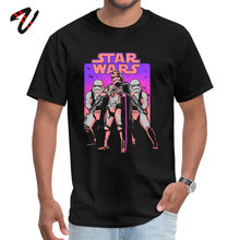 Neon Captain Phasma Stormtrooper Men Graphic Tee Shirt Star Wars Poster Print Pure Cotton Tshirts Summer Short Sleeve T Shirt