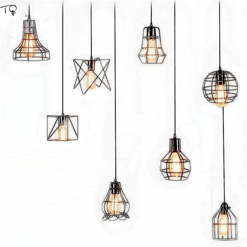 Modern Iron Net Pendant Light Restaurant Living Room Led Hanging Lamp Simple Kitchen Fixtures Cafe Lighting Luminaire Decor Loft