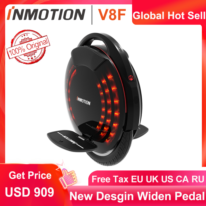 2020 Newest Original INMOTION V8F Unicycle Widen Pedal Built In Legpads One Wheel Eletric Balance Wheel