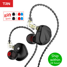 TRN VX 1DD 6BA Metal Headset Hybrid Units In Ear Earphones Monitor HIFI Earbuds Noise