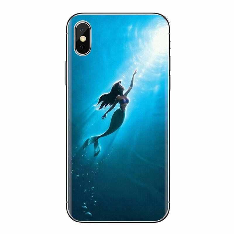 Lembut Penutup Transparan Ariel Tato Putri Duyung Kecil untuk Samsung Galaxy S3 S4 S5 Mini S6 S7 Edge S8 S9 s10 Plus Catatan 3 4 5 8 9