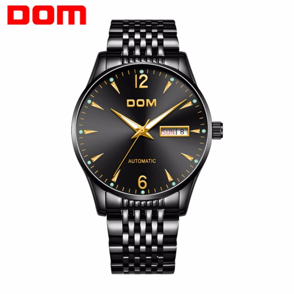 DOM Mechanical Watches Top Brand Luxury Automatic Mens Watch Luminous Casual Fashion Waterproof Business Watch Men brand watch