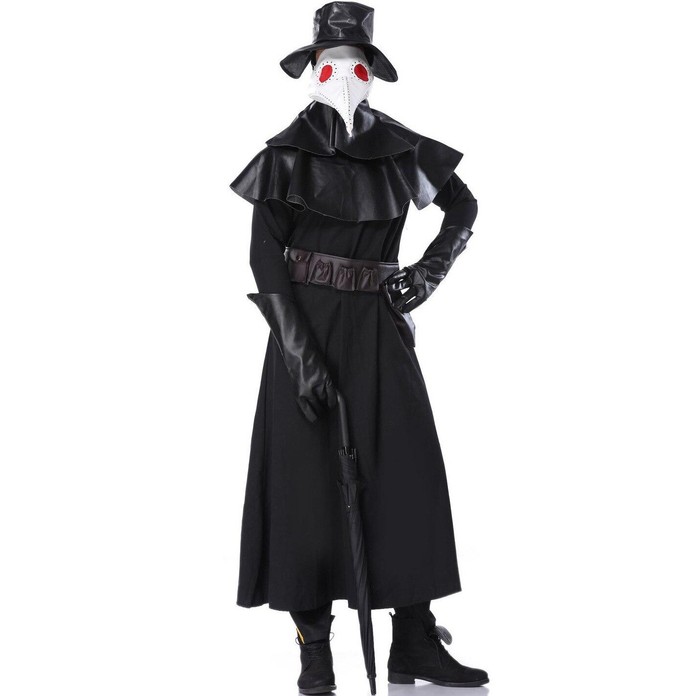 M-XL nouvelle peste oiseau docteur vêtements Halloween Costume sombre donjon pic bec film personnage vêtements pour hommes