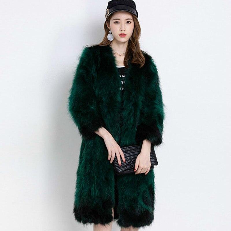 Autumn Winter Coat Women Clothes 2020 Real Fur Coat Warm Raccoon Dog Fur Jacket Korean Vintage Abrigo Mujer D-HZM92220 ZT2778
