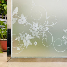 White Flowers Decorative Window Glass Film Opaque Privacy Protective Frosted Window Stickers Static Self Adhesive Film