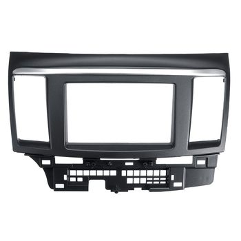 Hot 2 Din Car Fascia Stereo Audio Radio DVD CD GPS Plate Panel Dash Mounting Frame Fascias Replacement For Mitsubishi Lancer For