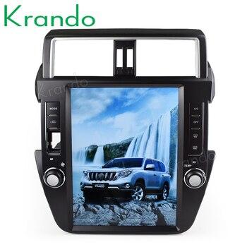 "Krando Android 8,1 de 12,1 ""tesla de pantalla Vertical radio gps de coche reproductor de navegador para Toyota Prado 2014-2017 sistema multimedia"