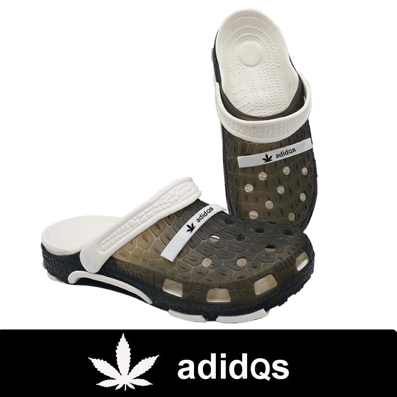 Maple Leaf Weed Adidase Beach Men Sandals Crocks Hole Shoes Adulto Cholas Hombre Nikec Clogs Garden Shoes Crocse