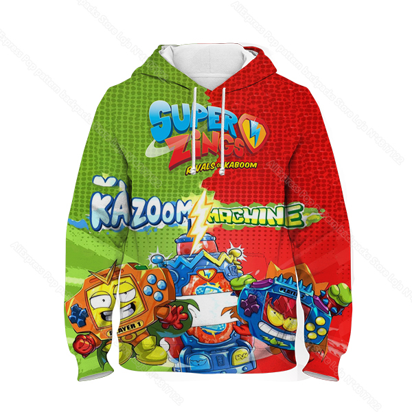 Kids 3D Print Super Zings Hoodie Autumn Winter Children Superzings 6 Series Sweatshirt Sudadera Boy Girl Cartoon Anime Pullover 30