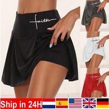 Sport-Skirts Athletic Dress Short Pleated Tennis Workout High-Waist Running Women Ladies