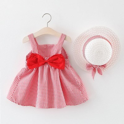 Baby Girls Western Style Set Summer 0-2 Ying Er Qun Medium-small Girls Western Style Dress Spring Children Casual Princess.