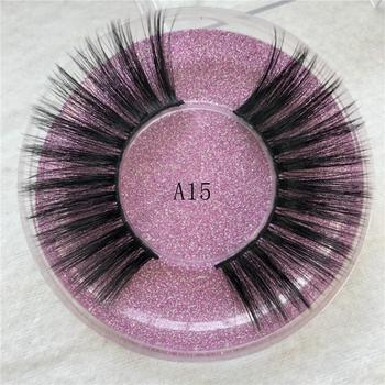Fake Real Mink Lashes 3D Mink False Eyelashes Dramatic Long Messy Cross Lashes image