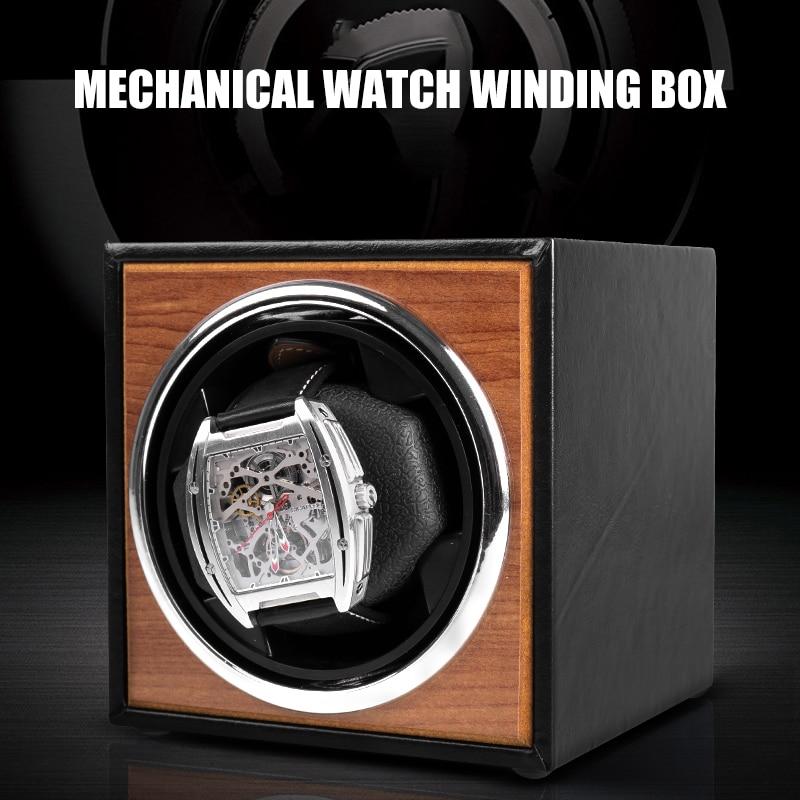 USB Power Supply Black Mechanical Watch Winding Box Motor Shaker Mini Watch Winder Holder Display Jewelry Storage Organizer