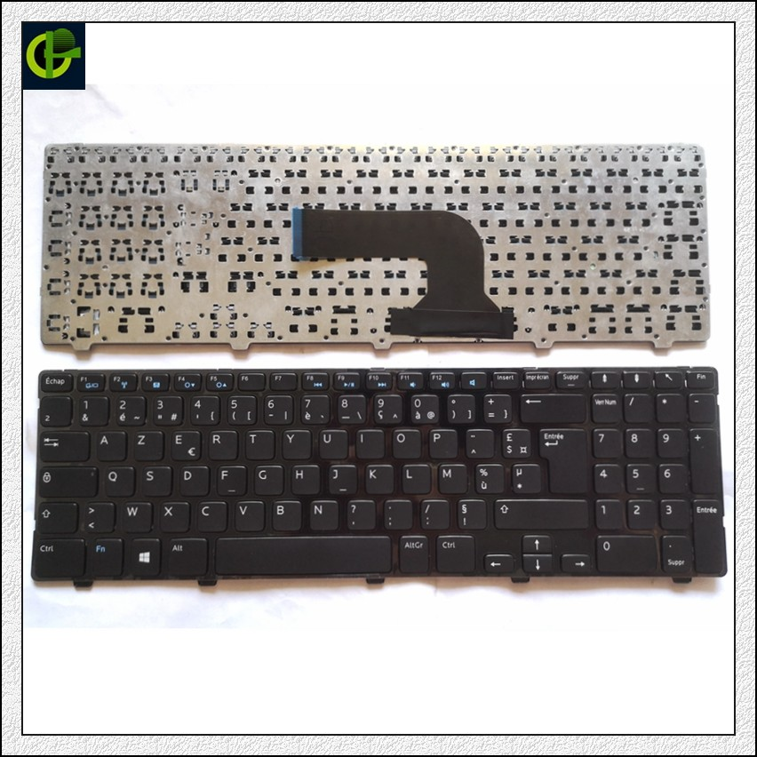 French Azerty Keyboard for <font><b>Dell</b></font> <font><b>Inspiron</b></font> <font><b>15</b></font> 15R 3521 <font><b>3531</b></font> 3537 15R 5421 5521 5537 5535 <font><b>15</b></font>-3521 15V-1316 3540 15R-5521 2521 FR image