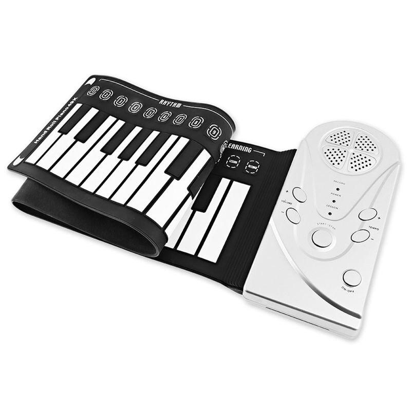 Teclas de Silicone Eletrônico para Crianças Multi Estilo Portátil Flexível Rolam Acima Piano Dobrável Teclado 49 Mod. 312422