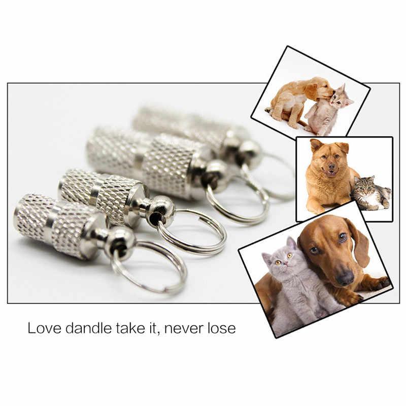 Köpek Kedi Depolama Tüpü Anti Kayıp Adres Etiketi Evcil Hayvan Adı Adres KIMLIĞI Etiketleri Mini Metal Yaka Tüp Kolye Kolye Pitbull yaka