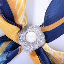 Flower Brooches Jewelry Corsage-Accessories Scarf Women Coat Fashion OKILY for Shawl