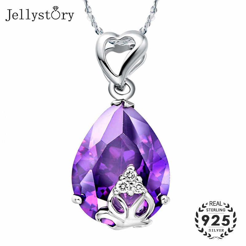 Beautiful sterling Amethyst and Dragon spoon drop pendant