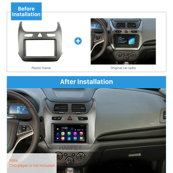 Harfey Car Radio 2Din Fascia Trim Kit Plate Cover Mount for GM CHEVROLET COBALT 2016 2017 OEM Panel Installation in Dash Bezel