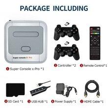 슈퍼 콘솔 X pro 게임 콘솔 TV 비디오 게임 박스 레트로 게임 플레이어, 64/128/256G, 무선 게임 패드, EU/US/UK/EU 플러그