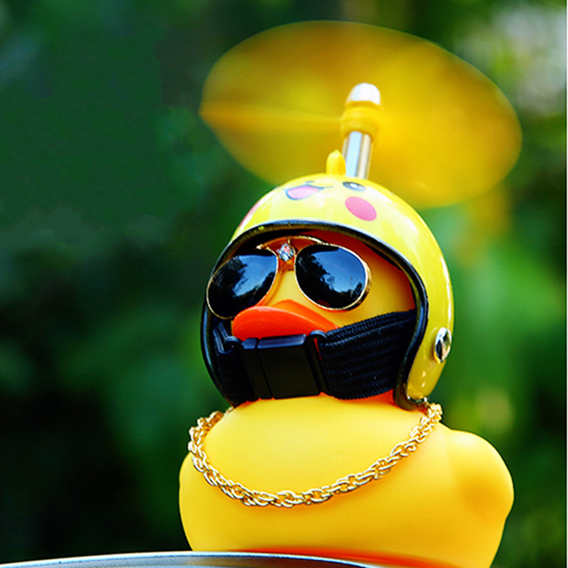 Helm Gebrochen Wind Kleine Gelbe Ente Geschenk Nette Auto Zubehör Innen Brechen Wind Welle Ente Auto Ornament Radfahren Dekoration