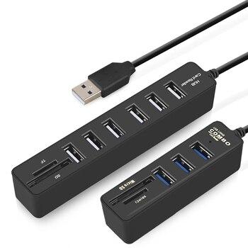 IMice USB HUB 3.0 Multi USB 3.0 HUB diviseur Port 3/6 plusieurs USB Hab lecteur de carte SD haute vitesse Usb Combo pour ordinateur portable