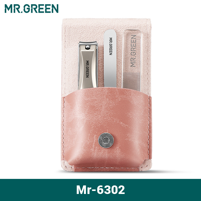 MR.GREEN Manicure Set Surgical Grade Scissors Stainless Nail Clippers Tool Pedicure Set Home Portable Travel Kit Nail Scissor 8