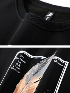 Image 5 - Pioneer Camp 100% Baumwolle Dicken Pullover Männer Winter Feder Print Schwarz Grau Outwear Mens Hohe Qualität Kleidung AWY906348