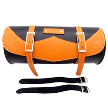 цена на New Universal Motorcycle Saddle Bags PU Leather Motorbike Leather Side Storage Tool Pouch Front Luggage Bag For Harley Davidson