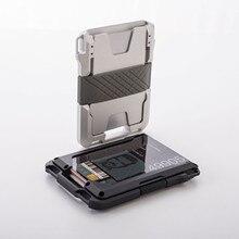 SEMORID Rfid Metal Credit Card Holder Men Tactical lanyards id badge holder Credential Cardholder Case Smart Minimalist Wallet
