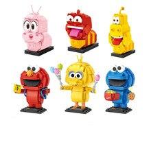 Loz blocos de tijolos construção XQYJ verme inseto dos desenhos animados modelo brinquedos parágrafos crianças juguetes anime criança