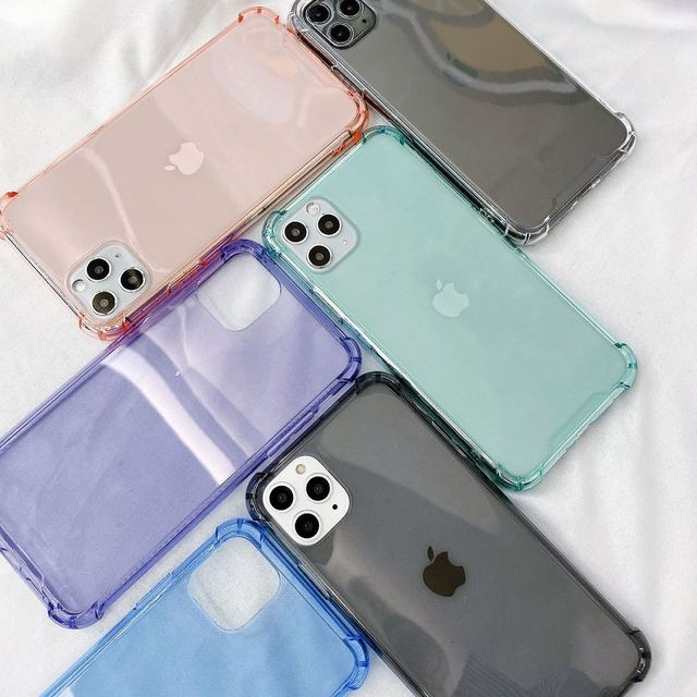 Transparent Shockproof Case for iPhone 12 Mini 11 Pro Max XS XR X 6S 7 8 Plus Clear Anti-Knock Phone Shell Soft TPU Back Cover 6