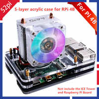 52Pi nuevo Caja de refrigeración para Raspberry Pi 4 B