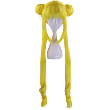 Sailor Moon Tsukino Usagi Long Curly Blonde Double Ponytail Synthetic Cosplay Wig For Girl's Costume Party