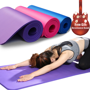 183*61cm NBR Yoga Mat Pad Pilates Non-slip Thick Pad Fitness Pilates Mat for Outdoor Gym Exercise Fitness Mat Yoga fashion printed suede tpe anti slip gym fitness exercise pilates yoga mat pad yoga mat beginner fitness mat non slip tasteless