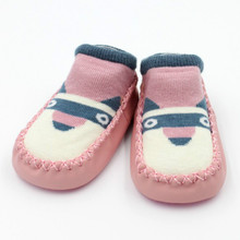 Toddler Baby Girl Boy Shoes First Walker Newborn Cartoon Girls Boys Anti-Slip Socks Slipper Boots