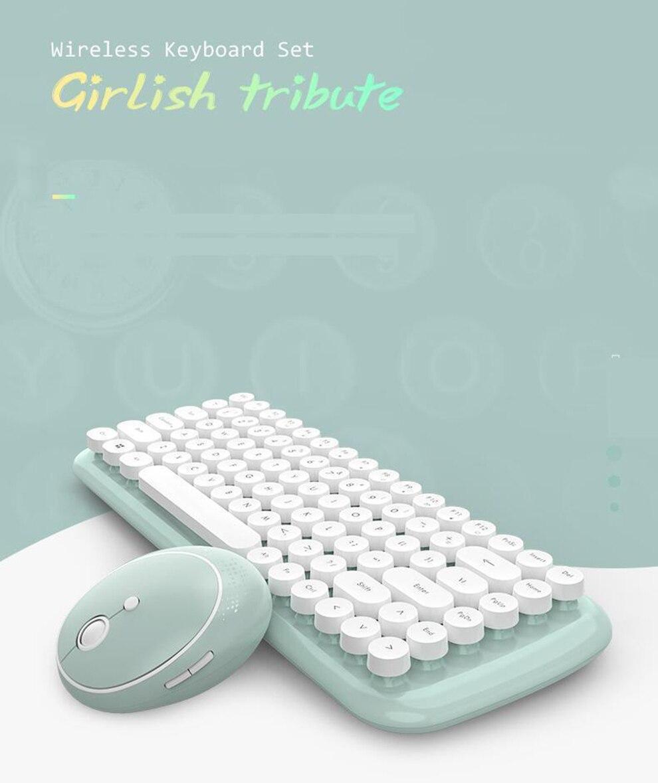 usb conjunto de teclado sem fio para escritório casa